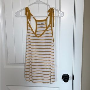Universal Thread yellow and white striped tank top